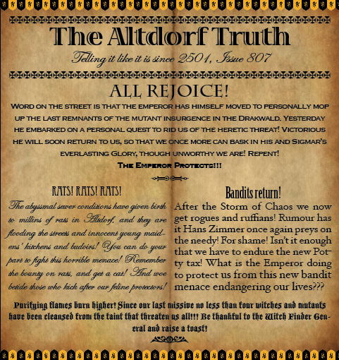 The Altdorf Truth 807