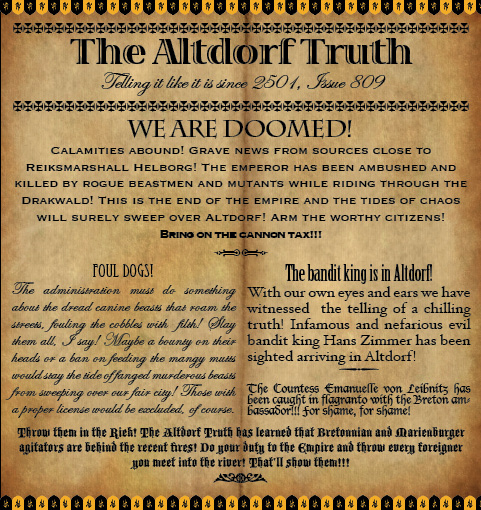 The Altdorf Truth 809