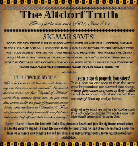 The Altdorf Truth 811