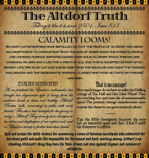 The Altdorf Truth 813