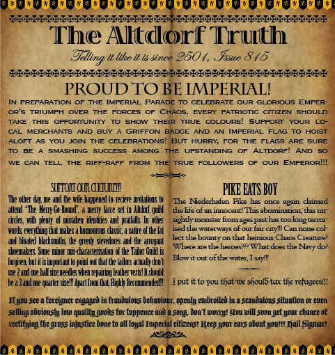 The Altdorf Truth 815
