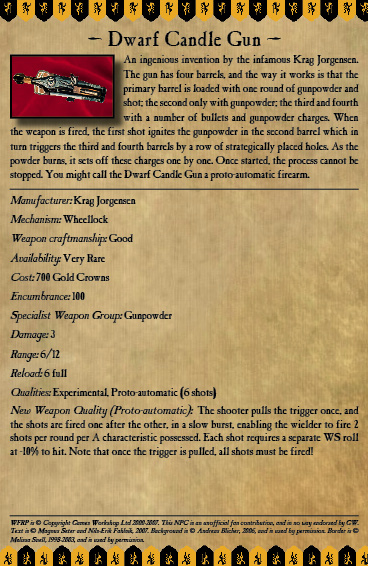 Dwarf Candle Gun